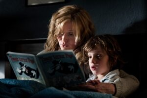 In an independent, Australian film, a single mother (Essie Davis) and her troubled young son (Noah Wiseman) are terrorized by a mysterious character from a children's book called Mister Babadook.